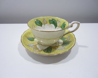 Tuscan Cup and Saucer - Yellow and White Flower Pattern