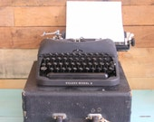 Remington Rand Typewriter And Case Deluxe Model 5