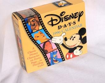 Good as new 1996 Disney Days Calendar, Vintage Disney Calendar, Disney Characters, 1996 mint condition Disney calendar