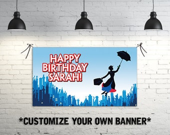 Mary Poppins Birthday Party Banner