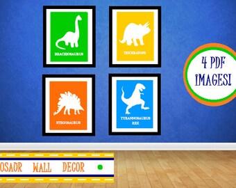 Dinosaur Wall Art, Dinosaur Wall Decor, Nursery Decor, Boys Wall Decor, Dinosaur Themed, Dinosaurs, Dinosaur Prints, Boys Bedroom, Boys Room