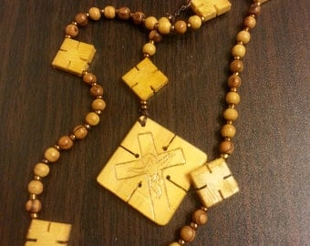 Square Crucifix Rosary