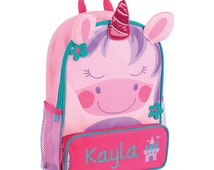 Stephen Joseph Sidekick Backpack Personalized. Shark Cat Dog Unicorn Butterfly Fox Dino Ladybug Owl Airplane Sports Pirate