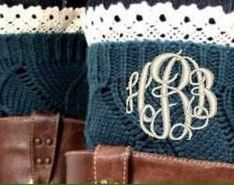 Monogrammed Boot Socks or Boot Cuffs
