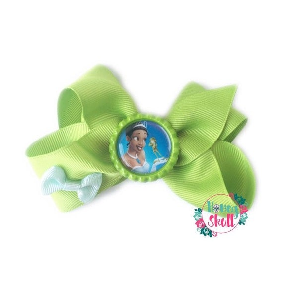 Princess Tiana Hair: Princess Tiana Bow Hair Clip Green Princess Bow Princess And