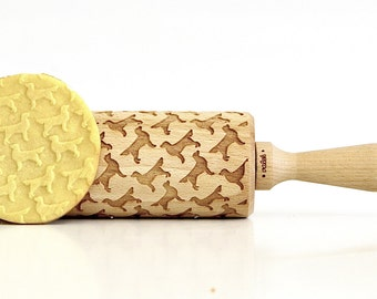Golden retiever !  Embossing rolling pin, laser engraved rolling pin