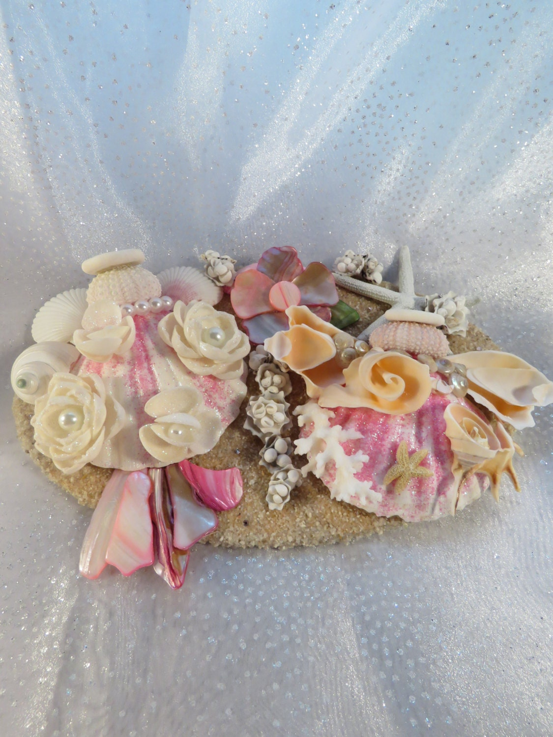 Pink seashell angels beach wall decorchristmas angelsholiday pink seashell angels beach wall decorchristmas angelsholiday decor girls room amipublicfo Images