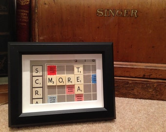 Original Scrabble Frame - More Tea