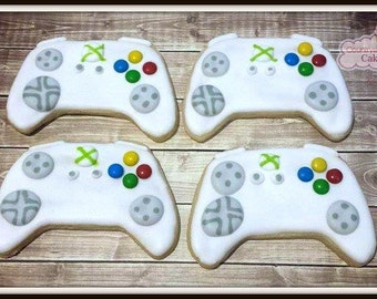 "Game Controller Cookies, Video Game Controller Cookies, 4""- 1 Dozen"