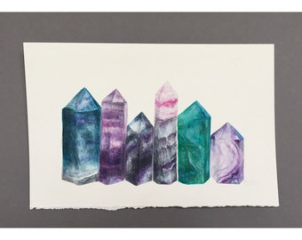 Crystal Points Watercolor