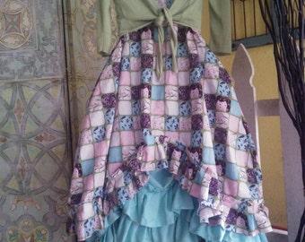 Women's handmade top / Lagenlook top / Lagenlook dress /women's handmade dress / ruffled dress /ruffled top / whimsical top/ whimsical dress