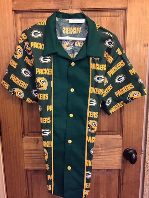 Green Bay Packers Retro Bowling Shirt