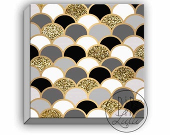 Black And Gold Wall Art black and gold art   etsy