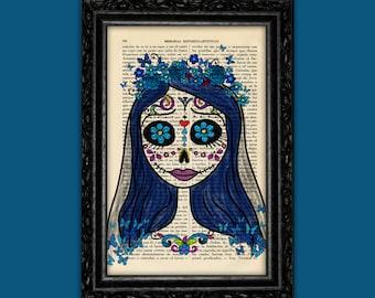 Corpse Bride Sugar Skull Print - Tim Burton Inspired Nº12 Halloween Poster Book Art Dorm Room Wall Decor Poster Art