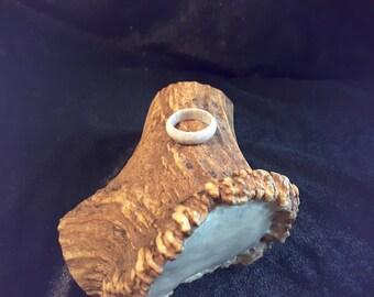 Ready to ship / Elk antler ring. Size 6.5