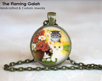 CUTE CATS Pendant •  Cat Lover •  Cute Kittens • Gift Under 20 • Made in Australia (P0148)