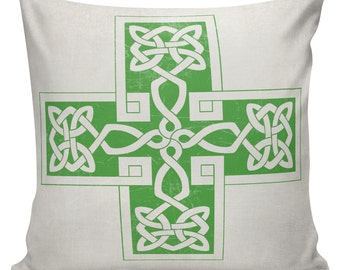 Throw Pillow, St Patricks Day, Pillow Cover, Cotton Pillow, Canvas, 18 inch #UE0377