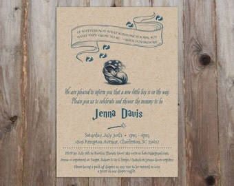 Harry Potter Baby Shower Invitations A7 - HP Theme - Harry Potter Theme