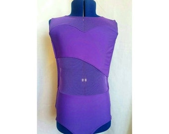 Brielle- LeosByKat Original Design, Ballet Leotard, Dancewear, Sweetheart Neckline, Asymmetrical Front, Open Back, Custom Leotard