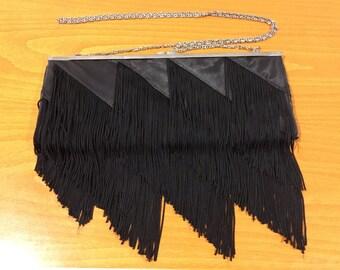 Vintage Women Black Shoulder Bag