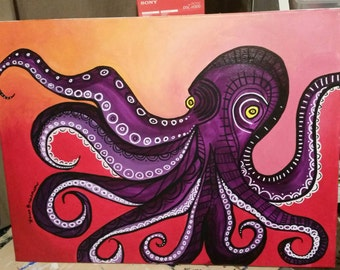 Abstract Octopus painting