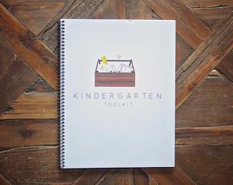 Kindergarten Toolkit Lesson Booklet, mini lessons and assessments, for preschool aged kids to prepare for Kindergarten.