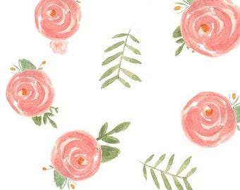 Swaddling Blanket - Soft Floral