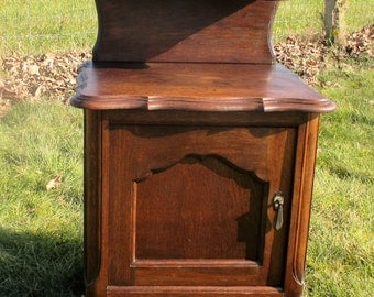 Art Deco Nightstand Cabinet End Table Display Drawer