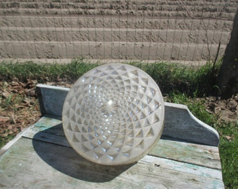 Vintage Amber Glass Round Sconce Lamp Shade era Limburg Helena Tynell