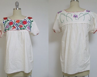 Vintage top, hippie shirt, hipster top, boho top, white shirt, crochet top, crochet shirt, crochet blouse, boho shirt, mexican shirt, retro