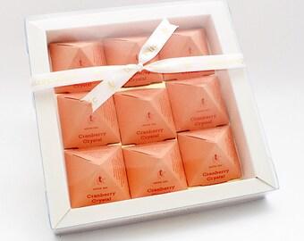 Tea Pyramid Gift Box : Cranberry Crystal