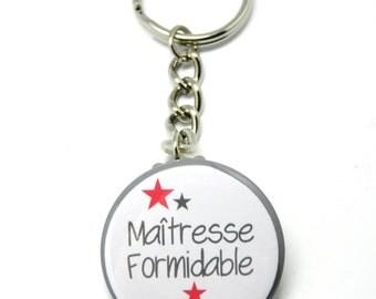 Door key 37mm mistress Formidable Rouge Vif customizable