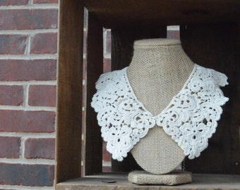 Ivory Peter Pan Collar Detachable