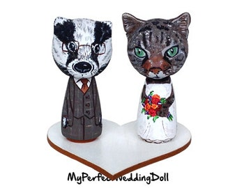 Animals Figures/Cat/Badger - 6.5 cm tall