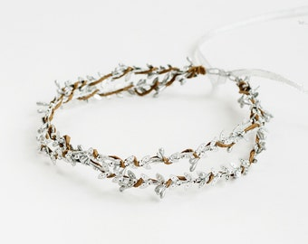 Bridal flower crown, Bridal floral crown, Floral wedding crown, Wedding flower heapiece, Wedding flower crown, Boho wedding, Greek style,