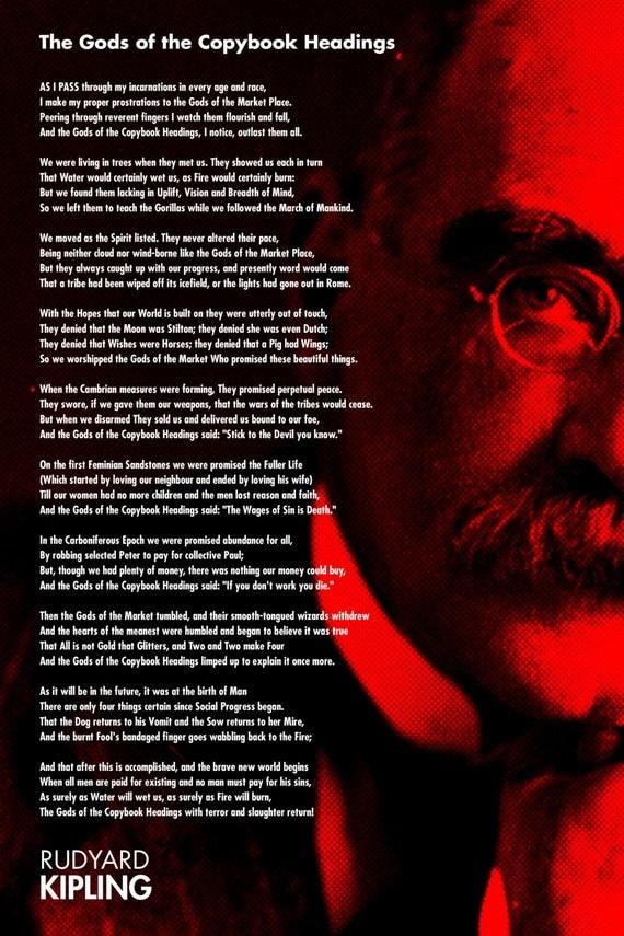Rudyard Kipling Poem The Gods of the Copybook Headings