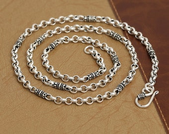 925 sterling silver chain 4mm silver necklace wholesale Y330