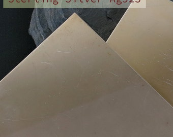 Sterling Silver sheet metal, Ag925