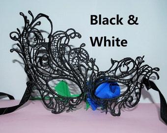 women Mask - Venetian Lace Mask - Wedding Mask - Mardi Gras - Masquerade Ball Mask - Halloween Mask