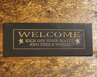 Welcome. Kick off your boots and stay awhile.