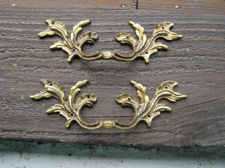 Bronze Drawer Handles, French Drawer Handles, Pair Drawer Pulls ...