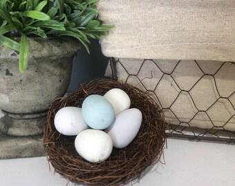 Painted Robin's Eggs, Spring Decor, Easter Decor