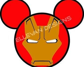 Iron Man Disney iron on transfer
