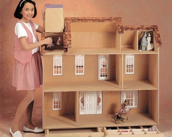Barbie Dollhouse Kit / Barbie's Estate Unfinished Dollhouse Kit in Playscale Size for Barbie