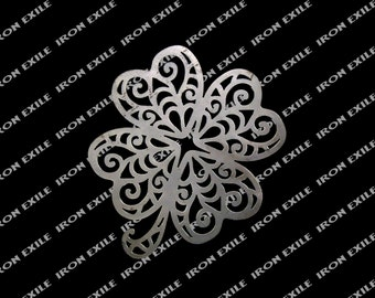 4 Leaf Clover Shamrock Metal Wall Art Sign Saint Patricks Day Plasma Cut Irish