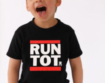 RUN TOT Hip Hop Kids T-Shirt / Trendy Kids Run DMC inspired Top / Boys Gift