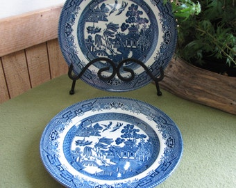 Blue Willow Salad Plates Churchill Blue Willow Small Plates Set of Two (2)