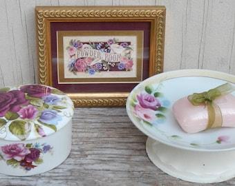Super Cute Cottage Chic Floral Powder Room Set!
