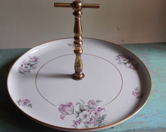 Cottage Chic Dessert Plate with Handle!