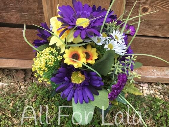 Cemetery Vase Flower Arrangement Insert For Headstone Memorial